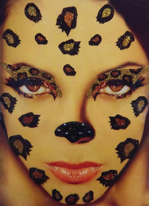 xotic eyes leoparden make up set leo look body art. Black Bedroom Furniture Sets. Home Design Ideas