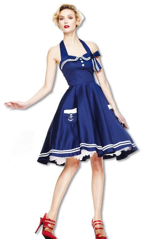 matrosen petticoatkleid blau sailor kleid rockabilly kleid karneval universe. Black Bedroom Furniture Sets. Home Design Ideas