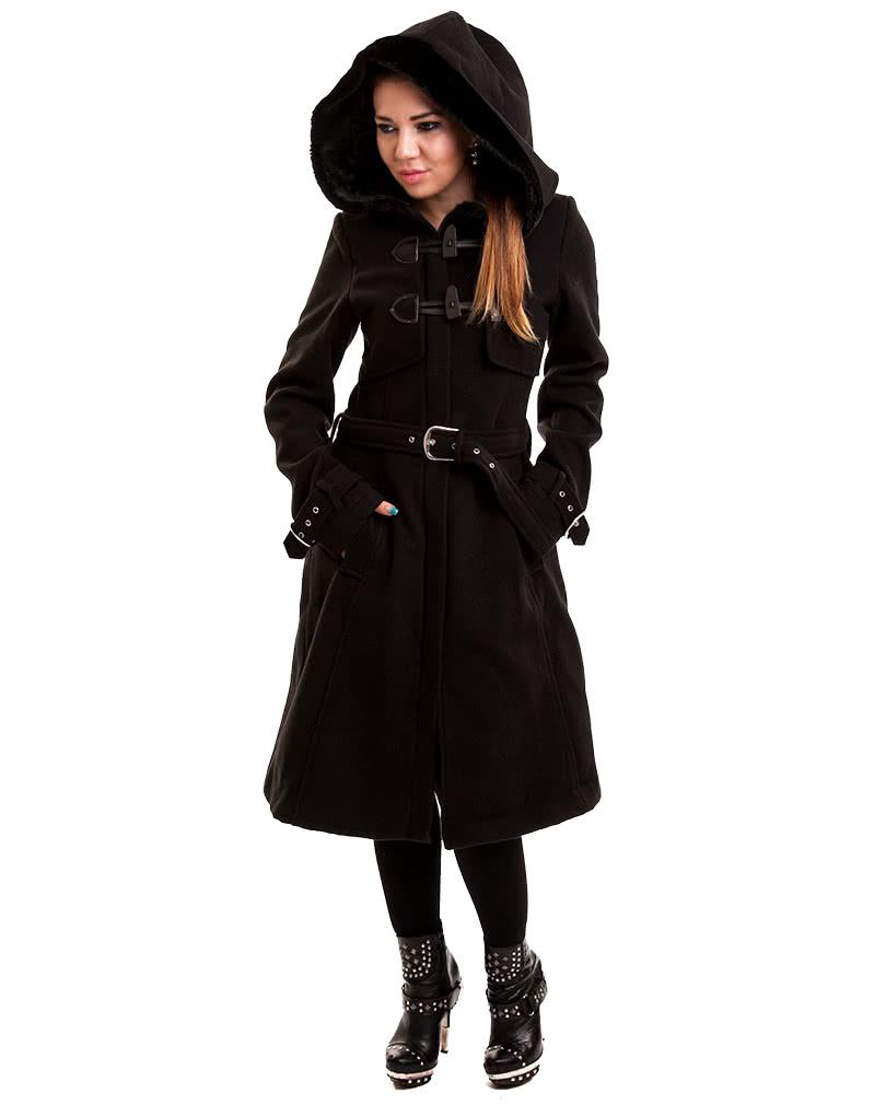 gothic mantel schwarz gothic fashion online kaufen karneval universe. Black Bedroom Furniture Sets. Home Design Ideas