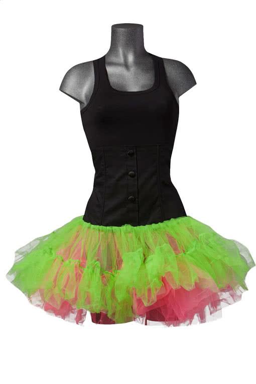 taillierter t llrock neon neon tutu gothic tutu karneval universe. Black Bedroom Furniture Sets. Home Design Ideas