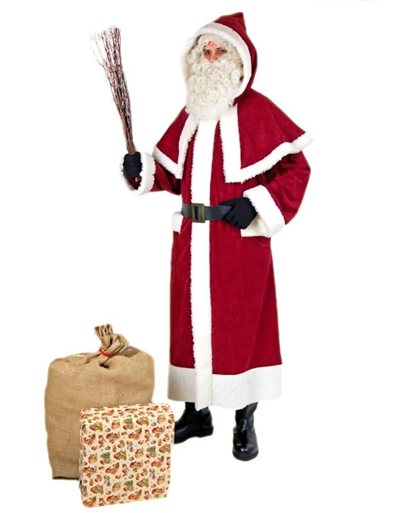 weihnachtsmann mantel mit pellerine und kapuze nikolaus. Black Bedroom Furniture Sets. Home Design Ideas