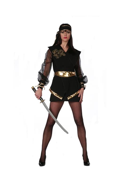 ninja dragonlady kost m plus size schwarze ninja verkleidung f r frauen karneval universe. Black Bedroom Furniture Sets. Home Design Ideas