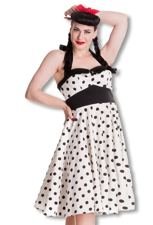 polka dot neckholder kleid xxl rockabilly kleider karneval universe. Black Bedroom Furniture Sets. Home Design Ideas