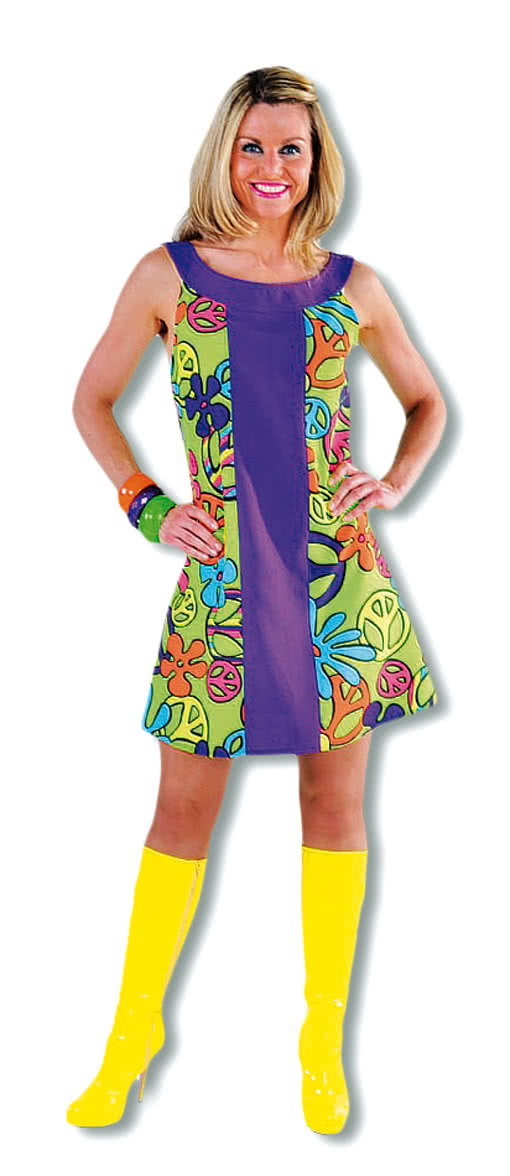 premium peace kleid hippie kleid flower power outfit. Black Bedroom Furniture Sets. Home Design Ideas
