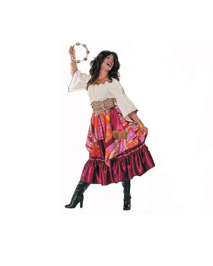 zigeunerin kost m schrille esmeralda kleid karneval. Black Bedroom Furniture Sets. Home Design Ideas