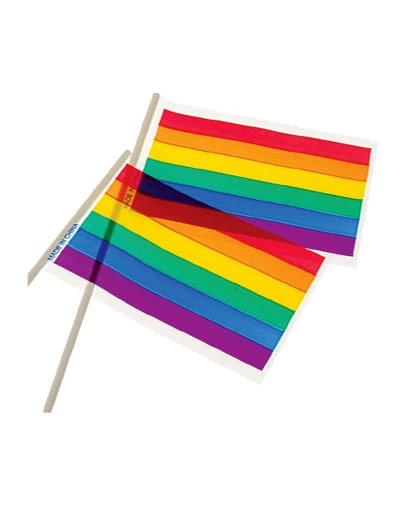 Mini regenbogen flaggen 12 st 15 x 10 cm kleine csd for Regenbogen dekoration