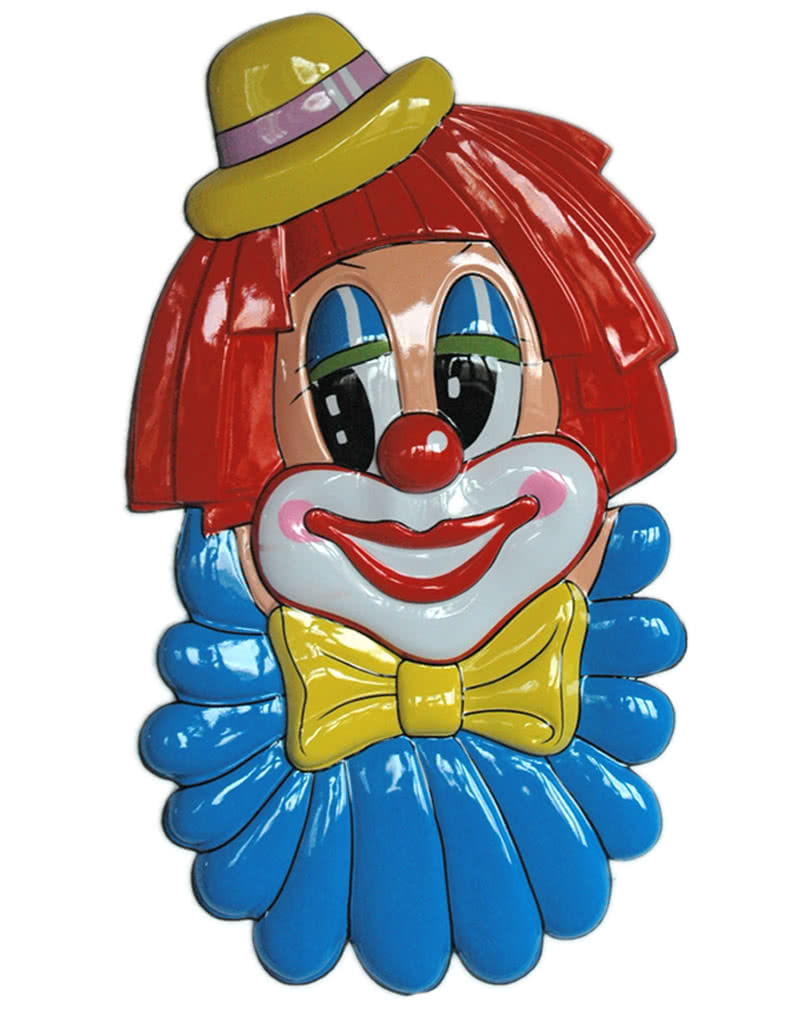 Riesige clown wanddeko zirkusclown dekoration karneval for Karneval dekoration