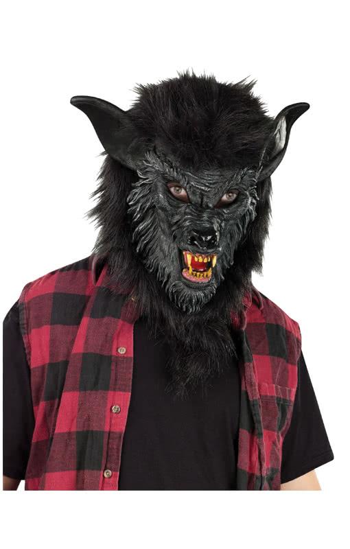 werwolf maske schwarz horror masken g nstig kaufen karneval universe. Black Bedroom Furniture Sets. Home Design Ideas