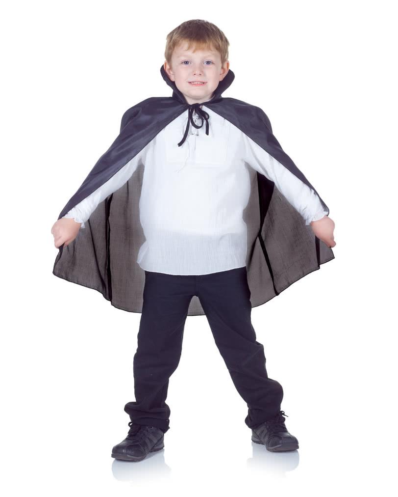 Schwarzer Vampir-Umhang für Kinder  Dracula Umhang für Kinder ...