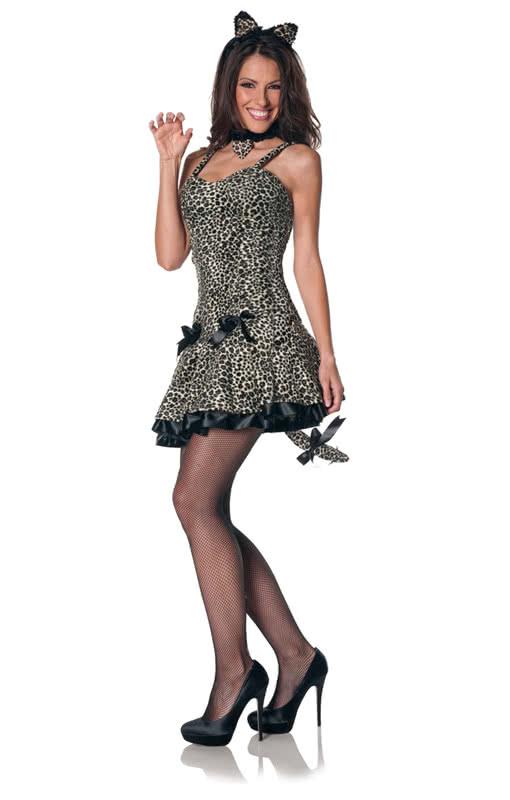 sexy leoparden mini kleid minikleid im leoparden design karneval universe. Black Bedroom Furniture Sets. Home Design Ideas