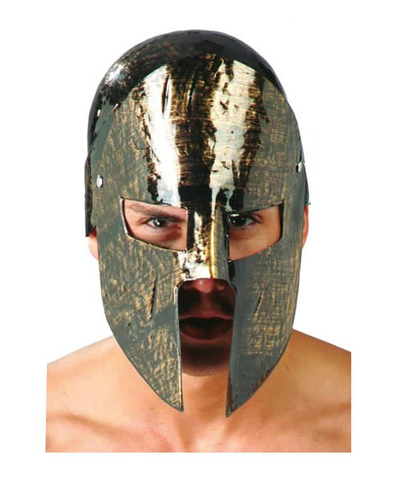 spartaner helm mit visier f r fasching antike. Black Bedroom Furniture Sets. Home Design Ideas