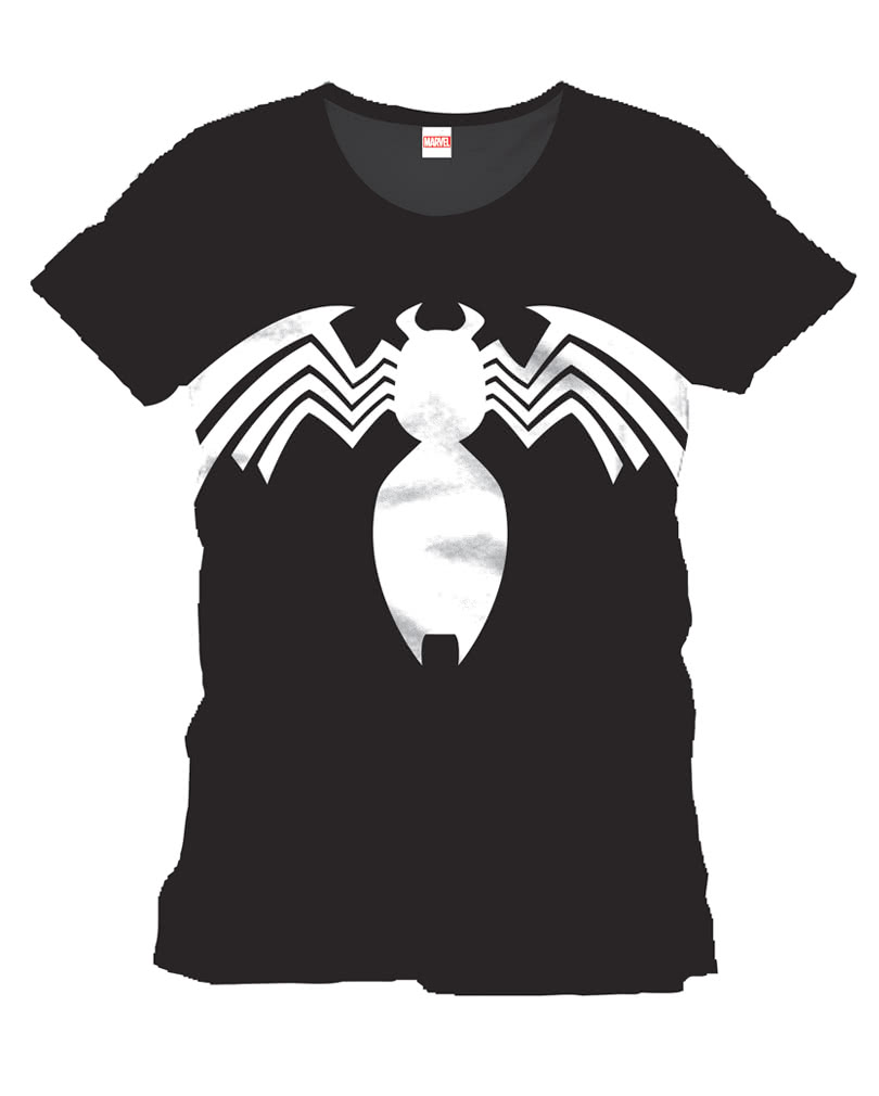 spiderman logo t shirt offizielles superhelden t shirt karneval universe. Black Bedroom Furniture Sets. Home Design Ideas