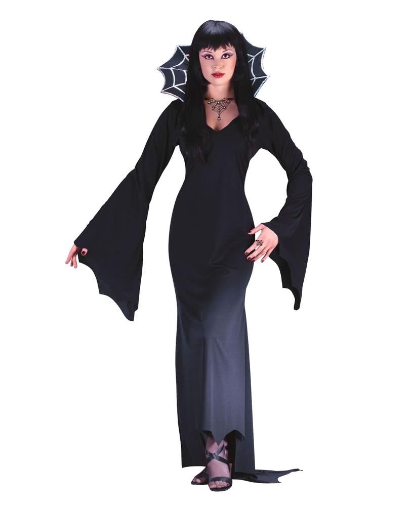 vampirlady spiderella kost m schwarzes abendkleid f r halloween karneval universe. Black Bedroom Furniture Sets. Home Design Ideas
