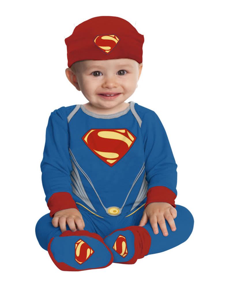 superman kost m f r babys f nfteiliges superhelden babykost m karneval universe. Black Bedroom Furniture Sets. Home Design Ideas