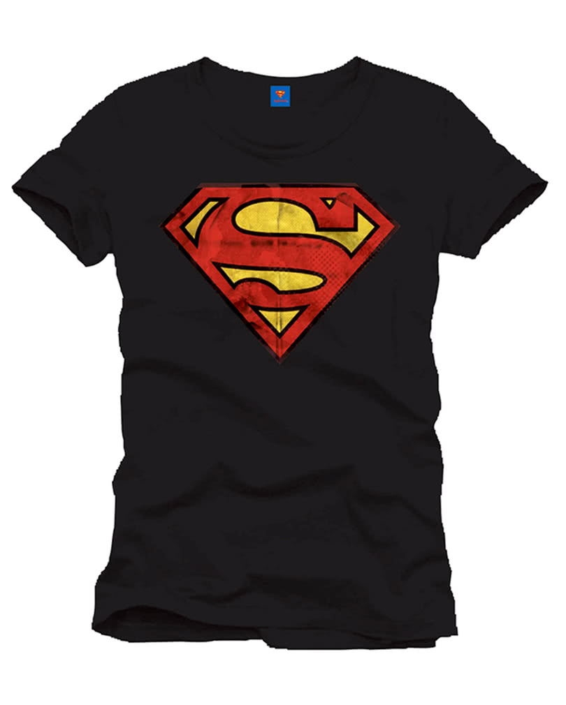 superman t shirt vintage logo dc comics superhelden t shirt karneval universe. Black Bedroom Furniture Sets. Home Design Ideas