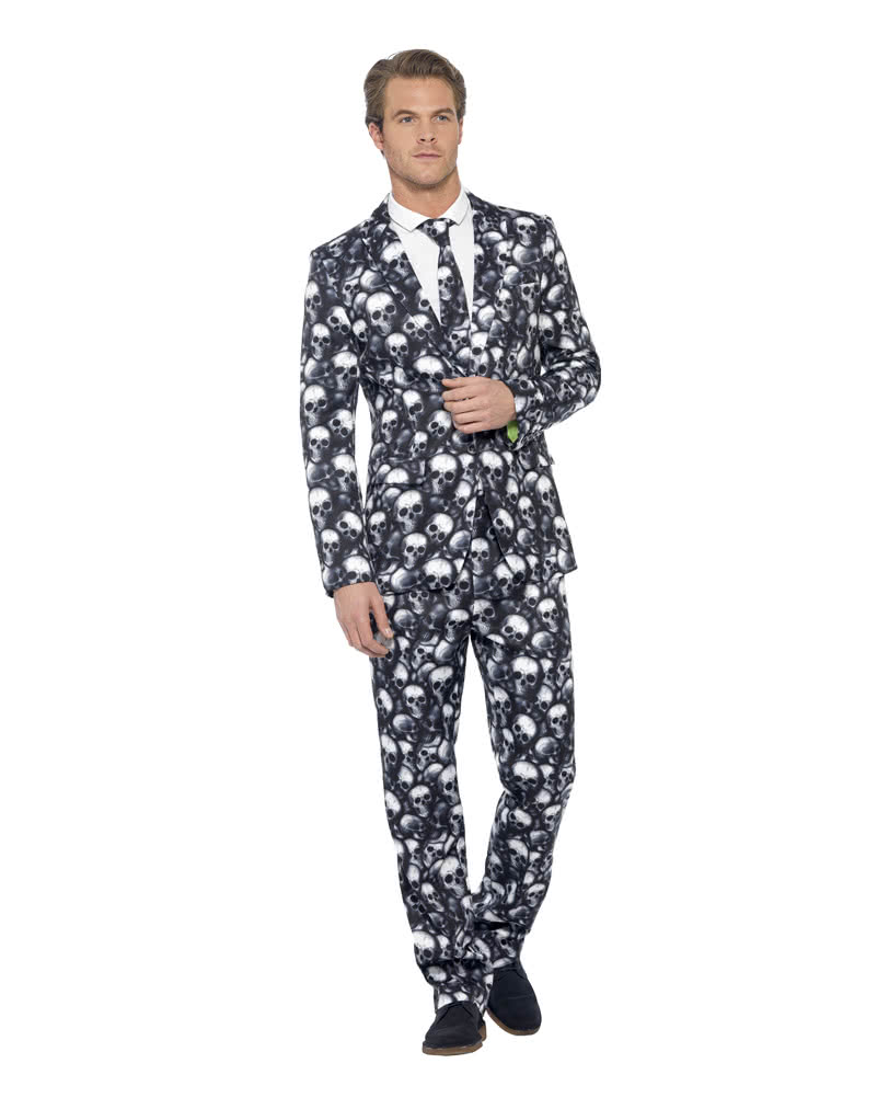 skull suit totenkopf anzug f rs b ro karneval universe. Black Bedroom Furniture Sets. Home Design Ideas