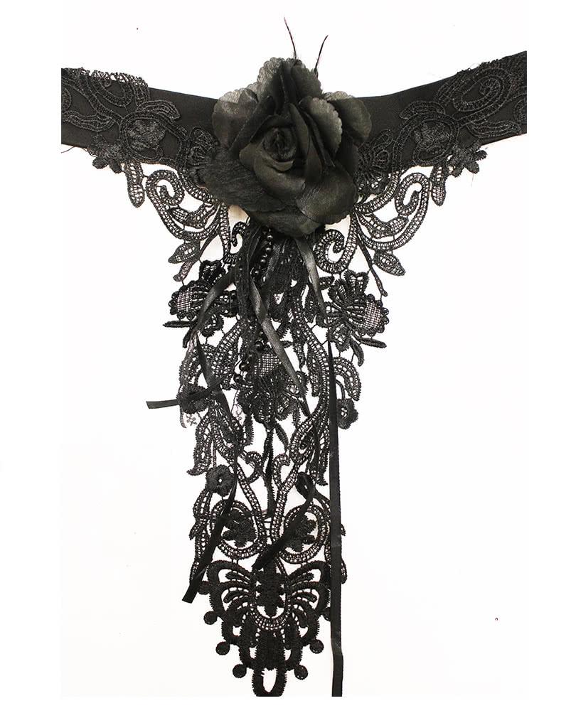 gothic halsband mit rose halsband gothic accessoire karneval universe. Black Bedroom Furniture Sets. Home Design Ideas