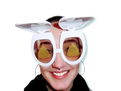 wc sitz scherzbrille klo brille partybrille karneval universe. Black Bedroom Furniture Sets. Home Design Ideas