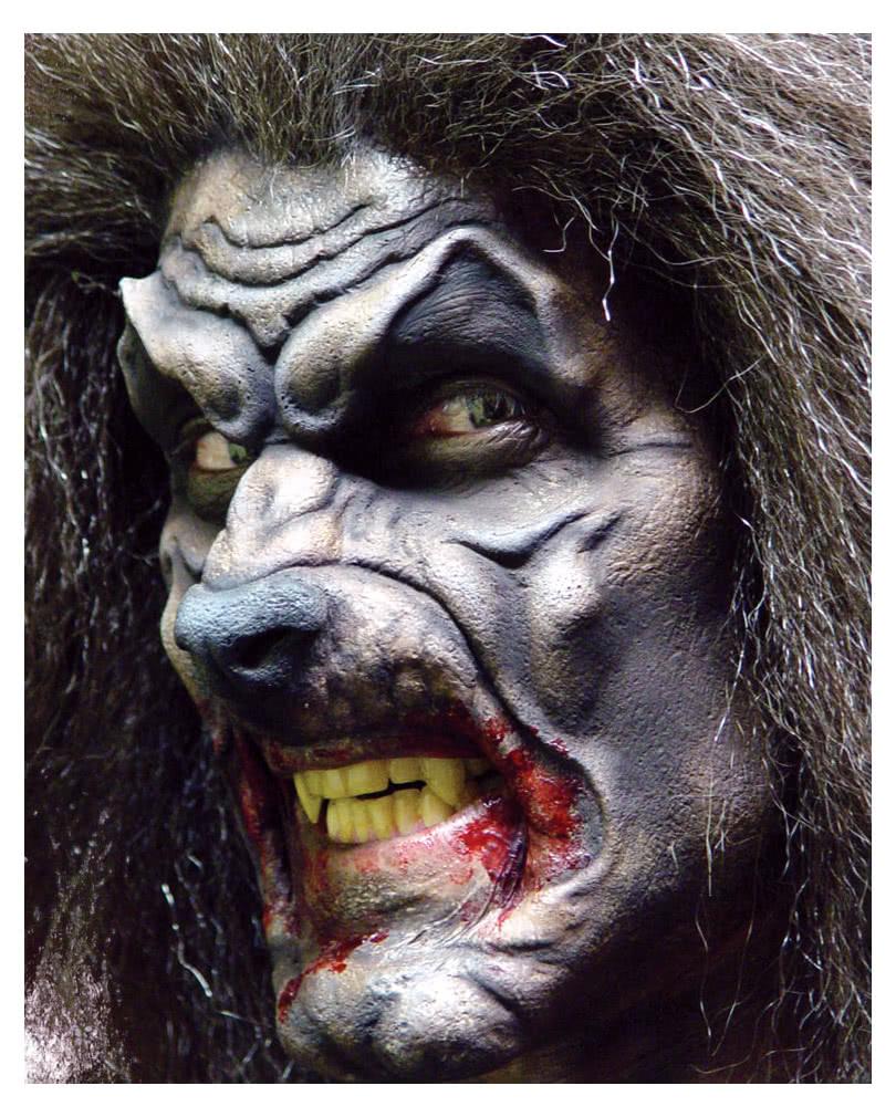 werwolf maske aus schaumlatex zum ankleben karneval universe. Black Bedroom Furniture Sets. Home Design Ideas