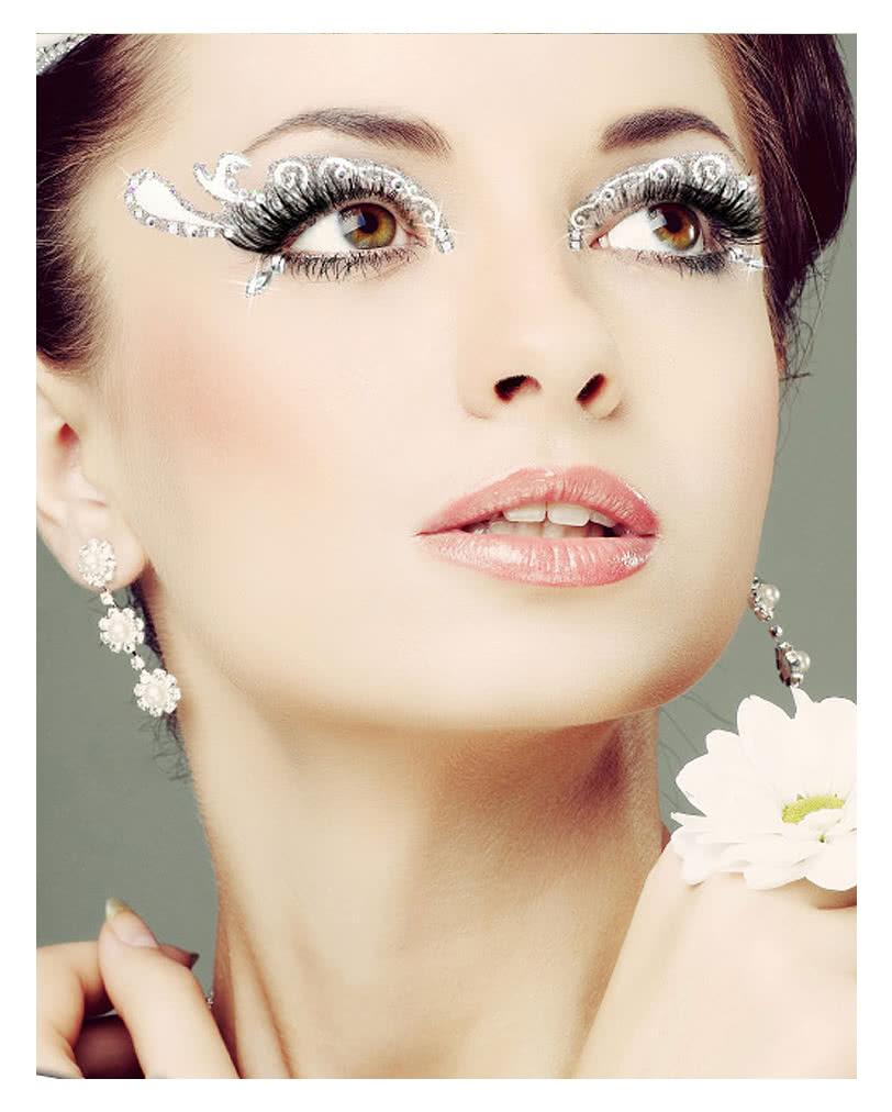 xotic eyes braut wei glitter make up augen make up zum. Black Bedroom Furniture Sets. Home Design Ideas