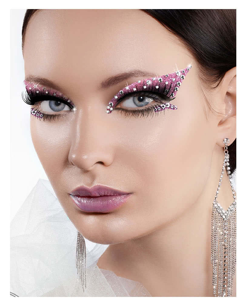 xotic eyes passion pink glitter make up augen make up zum. Black Bedroom Furniture Sets. Home Design Ideas