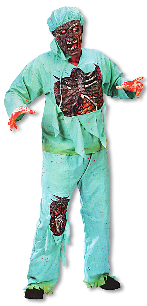 zombie doctor kost m plus size xl als zombie verkleidung f r halloween karneval universe. Black Bedroom Furniture Sets. Home Design Ideas