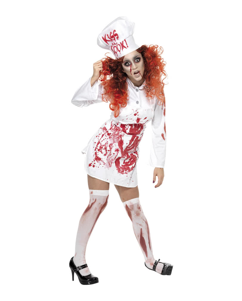 Zombie Cook Costume -Bloody Cook Costume-Zombie Chef Costume- - Karneval Universe