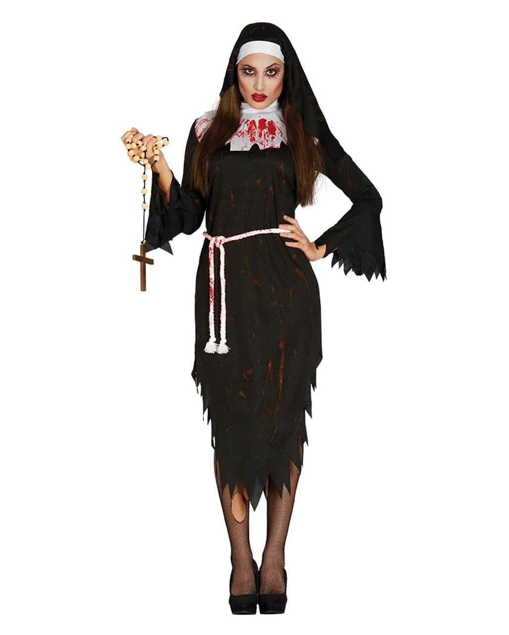 zombie klosterschwester kost m als verkleidung f r halloween partys karneval universe. Black Bedroom Furniture Sets. Home Design Ideas