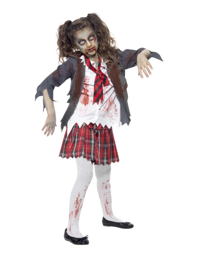 Zombie Schoolgirl Costume Horror School Uniform for Girls - Karneval Universe