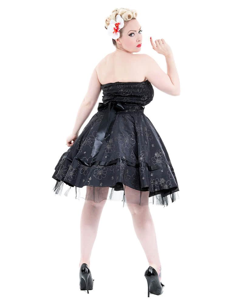bandeau kleid mit blumen 50er jahre kleid gothic kleid. Black Bedroom Furniture Sets. Home Design Ideas